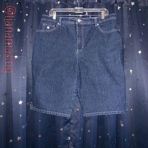 Gloria Vanderbilt Size 16 Jean Shorts